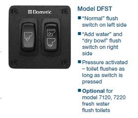 Dometic MasterFlush Rocker Switch 2 button